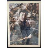 A Young Enzo Ferrari, Framed Collage Print