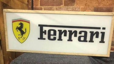 A Classic Ferrari-Themed Illuminated Sign