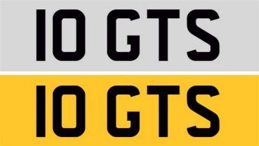Registration Number 10 GTS