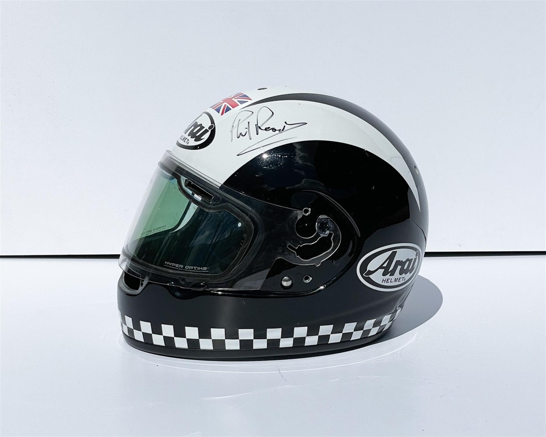 Phil Read Trophy, Replica Helmet and Programme - Image 2 of 2