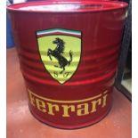 A Ferrari-Homage Oil Drum