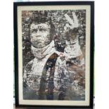 Steve McQueen Collage Framed Print