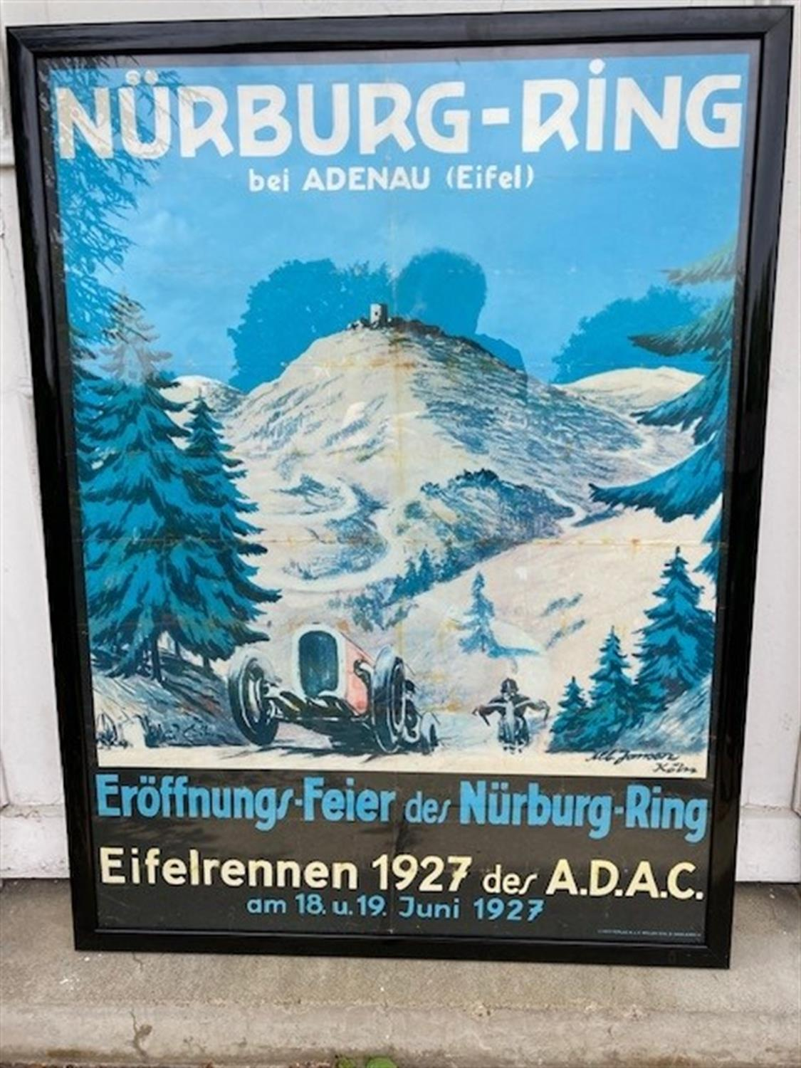 Charismatic Poster Depicting the Nurburgring in 1927