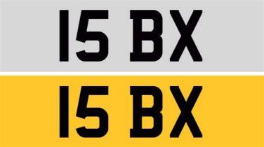 Registration Number 15 BX