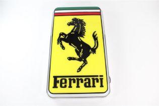 Original 1980s Large Illuminated Ferrari Dealership Sign