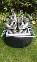 Williams Martini Racing - Pair of Race Used F1 Exhaust Pipes