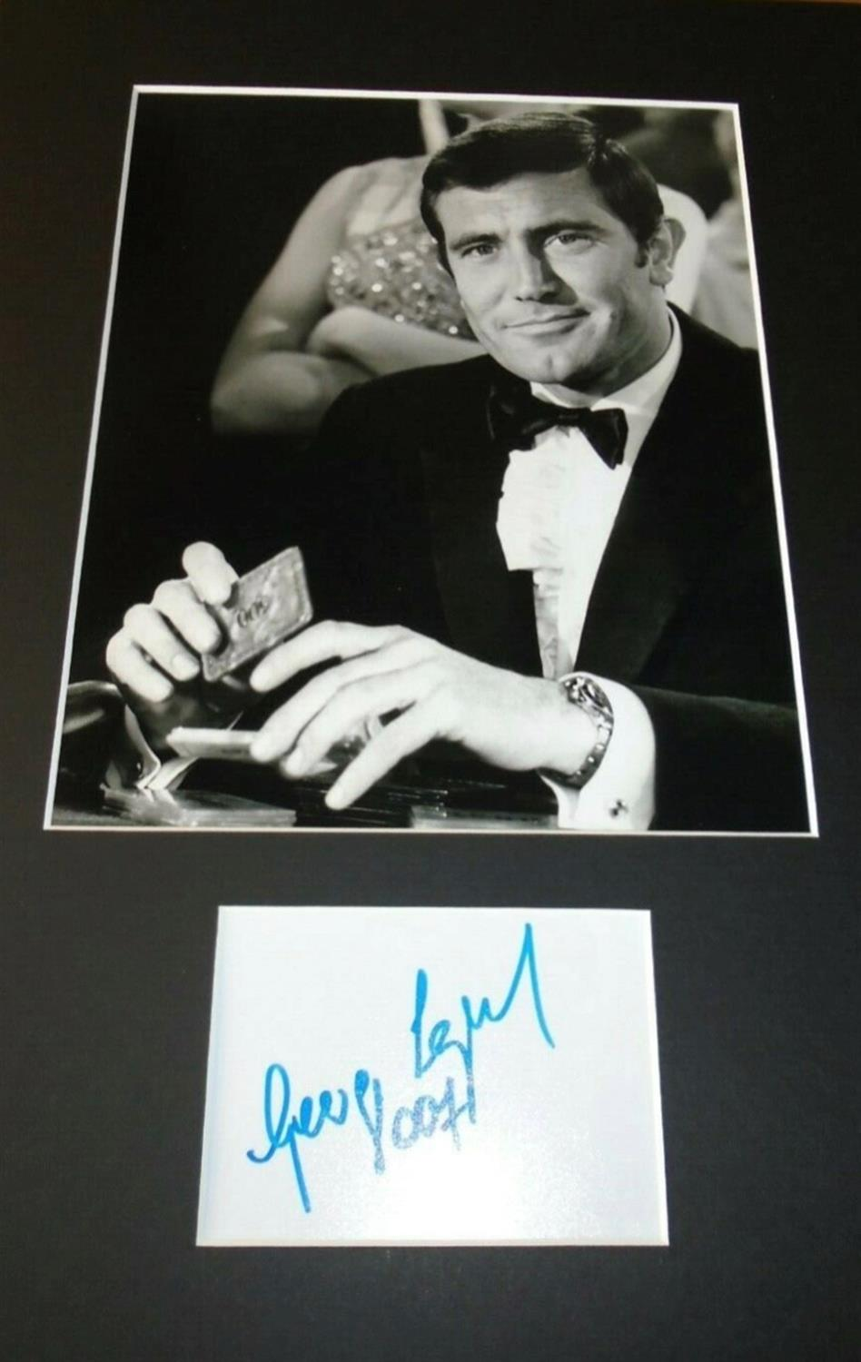 A Genuine Hand-Signed George Lazenby 007 Signature on Card