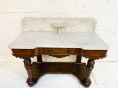 Mahogany marble top washstand