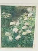 Framed and glazed watercolour by Edith A Stott RA 1903; together with another watercolour