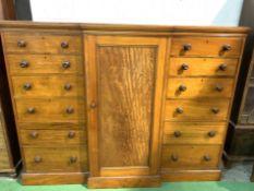 Victorian mahogany chest of drawers cum linen press.