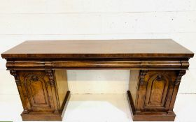 Victorian mahogany pedestal sideboard