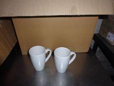 Eighteen china mugs.
