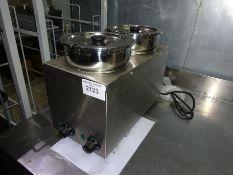 New Infernus BMP-4 x 2 twin pot electric bain marie.