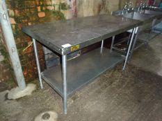 Bartlett stainless steel preparation table with under shelf.