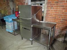 Hobart Ecomax plus pass through dishwasher, width 192cms and depth 84cms.