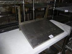 Stainless steel microwave shelf, width 60cms, depth 45cms.