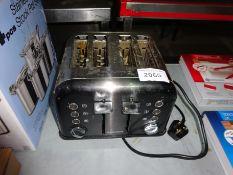 Morphy Richards four slice toaster, 240V.