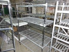 Four tier wire rack, width 120cms, depth 60cms and height 170cms.