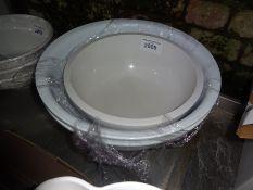 Three mixing bowls.