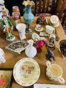 Quantity of decorative china including Bunnykins.