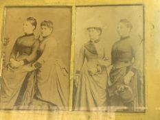 Two framed and glazed Edwardian photographs, and 3 other pictures