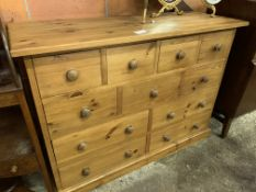 Pine multi drawer chest