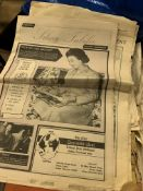 Large quantity of souvenir newspapers