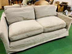 "Large 3 seat ""Otto"" sofa upholstered in mink smart velvet (100% polyester) by Sofa.com"