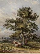 Seven various paintings