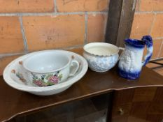 Various china items, mostly Burleigh