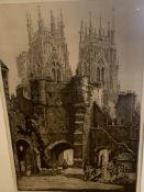 Five framed and glazed prints