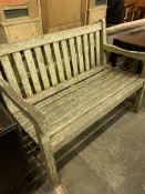 Wooden slatted bench