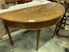 Mahogany demi-lune side table