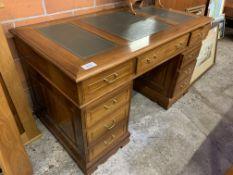 Mahogany pedestal desk