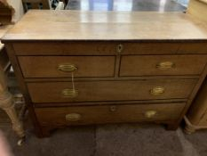 Oak former chest of 2 over 2 drawers