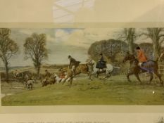 Two Hunting prints, two Snaffles prints and other paintings