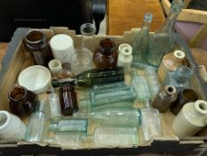 Thirty Victorian and Edwardian bottles.