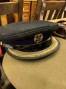 Two military Chaplain's caps and a Sam Brown belt
