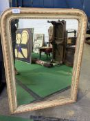 Wall mirror with painted and beaded frame