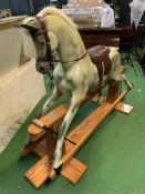 Rocking horse on pine swing stand, by Haddon Rockers