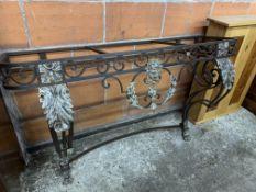 Decorative wrought iron side table base