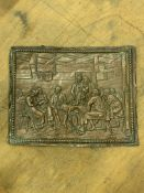 Copper on lead relief panel