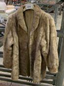 Light brown short fur coat