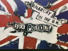 Sex Pistols framed art work