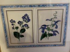 Ten gilt framed and glazed pairs of botanical prints