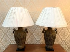 Pair of metal classical style table lamps by Chelsom