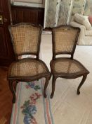 Pair of cane dining chairs