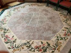 'Loomah' Chinese style bespoke octagonal carpet