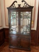 Chippendale style display cabinet