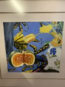 """Mixed media """"Squash and Tulip"""", by Marion Notman"""